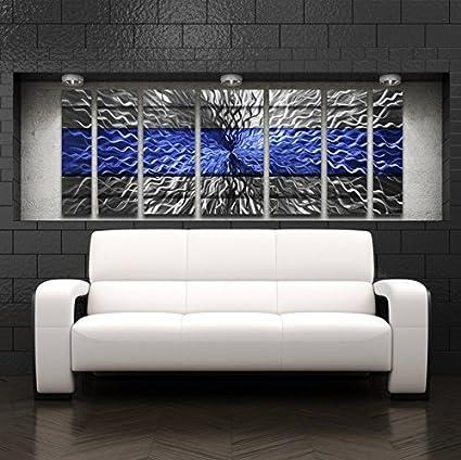 Amazon Com Large Metal Wall Art Modern Abstract Metal Wall