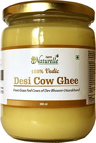 Farm Naturelle 100% Pure Cow Ghee from A2 Milk (500 ml)