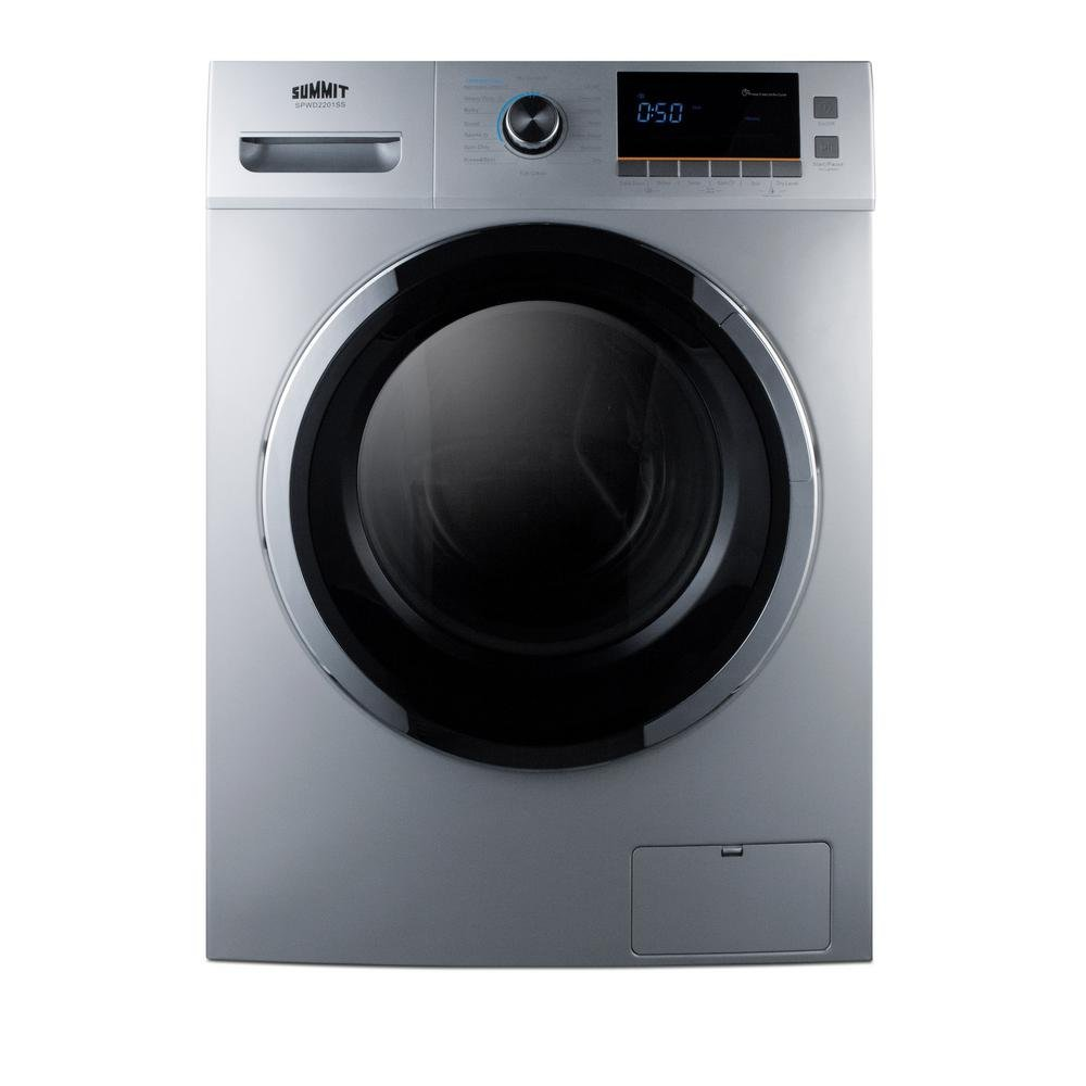 "B06Y1FGQG2 Summit SPWD2201SS 24"" Washer/Dryer Combo with 2 cu. ft. Capacity Stainless Steel Drum 1200 RPM Delay Start Option 7 Wash Cycles and 3 Dry Cycles in 51XAiETw0qL._SL1000_"