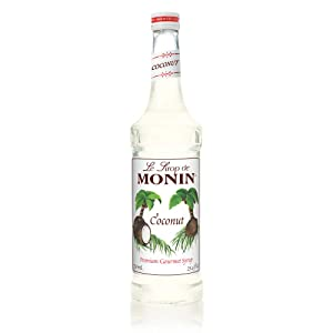 Monin - Coconut Syrup, Sweet and Rich, Great for Cocktails and Smooties, Gluten-Free, Vegan, Non-GMO (750 Milliliters)