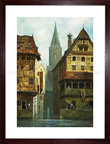 Painting Cityscape ASSMUS A�MUS Strasbourg Cathedral Framed Art Print - Strasbourg Cathedral