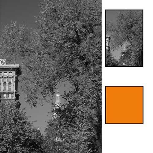 B + W 46mm #040 Glass Filter - Yellow/Orange #16 by B+W
