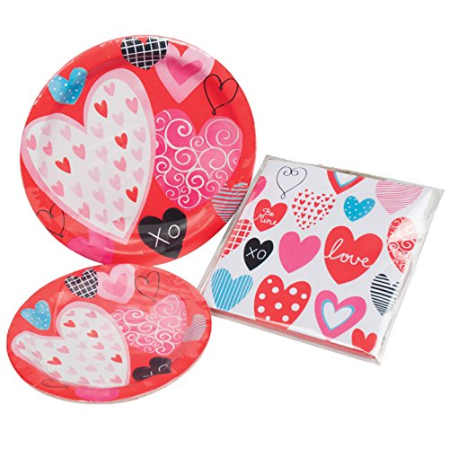 Set of 32 Valentines Party Plate Set! 7