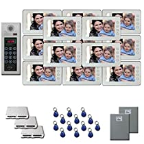 Apartment Video Intercom 13 seven inch color monitor door entry kit