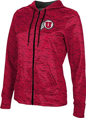 University of Utah Women's Zipper Hoodie, School Spirit Sweatshirt (Brushed) FAF62 Black and -