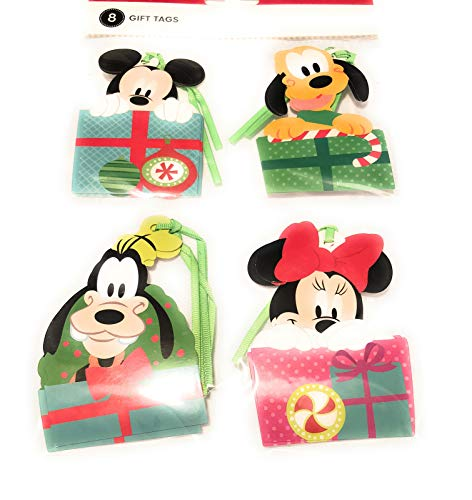 Disney Gift Tags - Disney Mickey & Friends Christmas Holiday Diecut Gift Tags