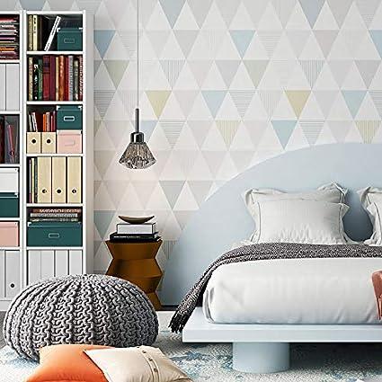 Wallpaper Modern Geometric Diamond Wallpaper Decor Nordic Bedroom