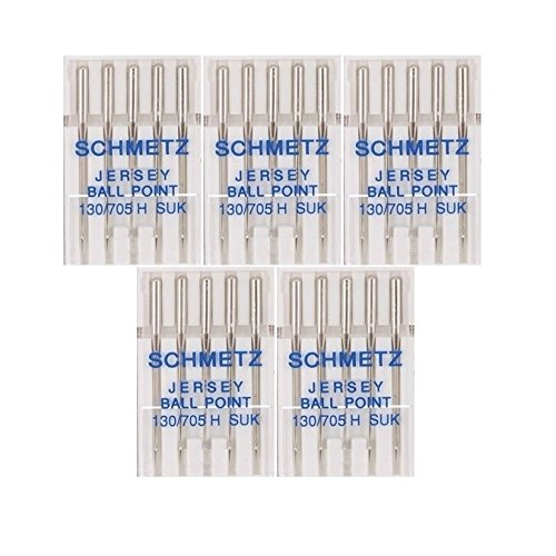 25 Schmetz Jersey Ball Point Sewing Machine Needles 130/705 H SUK Size 70/10