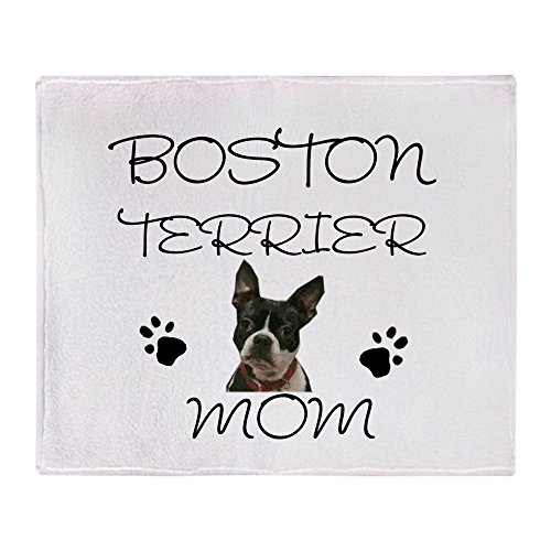 CafePress Boston Terrier Mom Soft Fleece Throw Blanket, 50