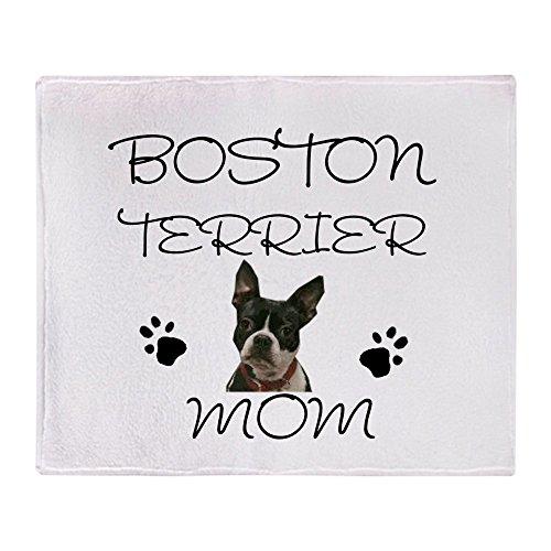 CafePress - Boston Terrier Mom - Soft Fleece Throw Blanket, 50