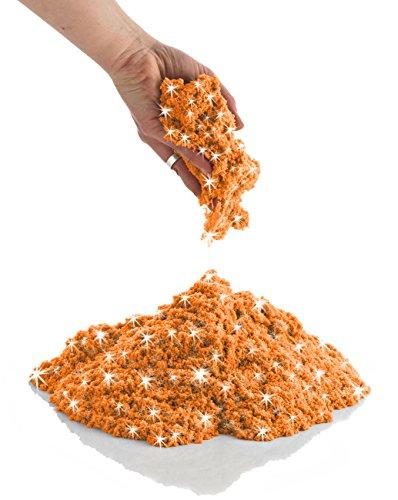 COOLSAND 스파클링 오렌지 황수정 2 파운드 리필 팩-재 밀봉 가능한 가방에 성형 가능한 실내 놀이 모래