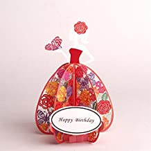 Paper Spiritz Happy Birthday to My Girl Pop Up Card Mothers Day Thank You I Love You Happy Birthday Anniversary Gift for Him Her 3D Greeting Card to Her ( Pack of 1)