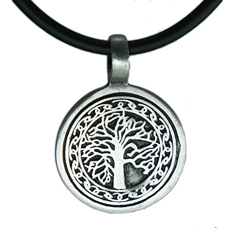 Celtic Circle Life (Tree of Life II Celtic Circle Pewter Pendant Religious Flow Creation + 18