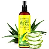 Aloe Vera SPRAY for Body & Hair - 99% ORGANIC, Made in USA, Big 12 oz - EXTRA Strong - SEE RESULTS OR - Easy to Apply - No THICKENERS so it Absorbs Rapidly with No Sticky Residue.