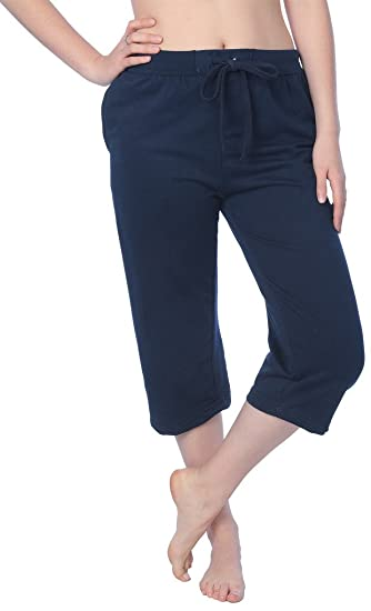 d29e027737f Beverly Rock Women s Capri French Terry Pant Available in Plus Size JFTC 18  Navy M
