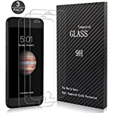 AOGOGO Screen Protector, Glass Screen Protector 2.5D Edge Tempered Glass,Bubble Free,3D Touch Compatible iPhone 7 Plus 8 Plus [3 Packs]