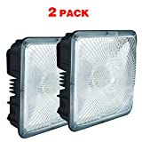 2 Pack of 45Watt LED Canopy Lights,150-200W HID Bulb Replacement,9.5'' x 9.5'',120V 277V for Playground, Gym, Warehouse, Garage,Backyard (2-Pack 45W)