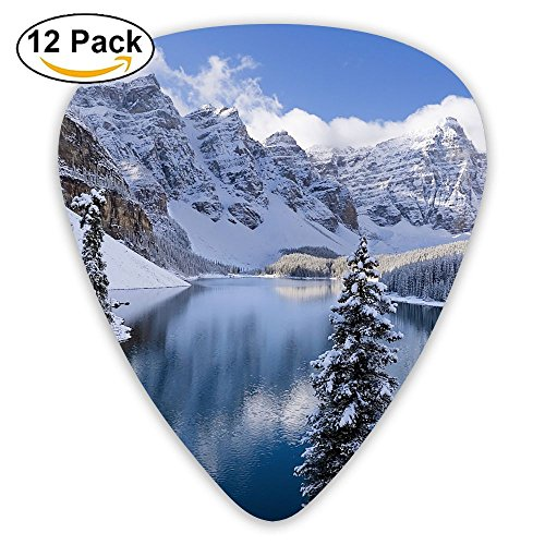 12-pack Fashion Classic Electric Guitar Picks Plectrums Winter Trees Mountains Instrument Standard Bass Guitarist