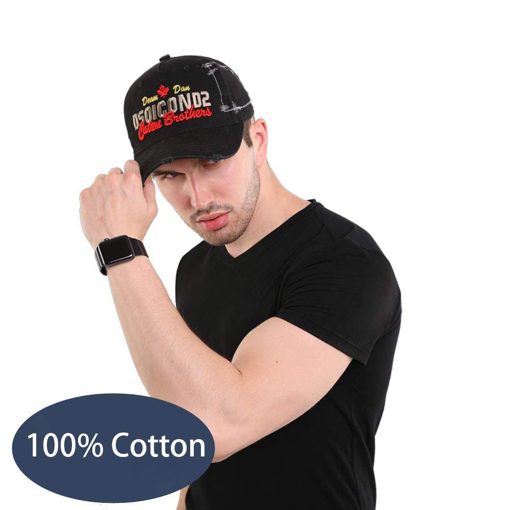 Baseball Caps Dad Hats 100/% Cotton Polo Style,Casual Trucker Hat with Dsquared Embroidery