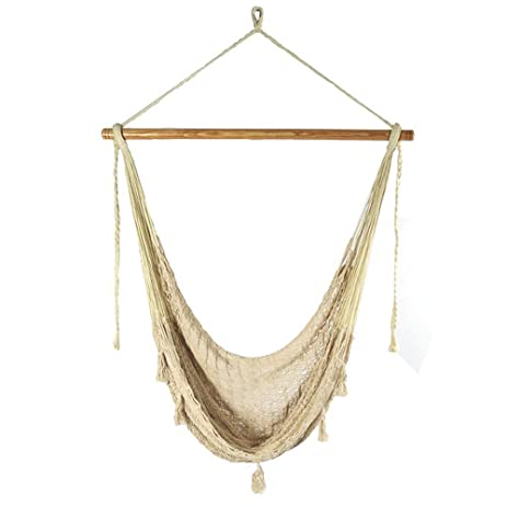 sunnydaze extra large mayan hammock chair  fortable hanging swing seat cotton nylon rope amazon     sunnydaze extra large mayan hammock chair      rh   amazon