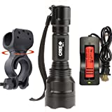 Cheap WindFire A Complete Set New Wf-C8 Cree Xm-l T6 U2 LED Flashlight Torch Lamp 1600 Lumens 5 Modes Flashlight Lighting Torch Ultra Bright & Rugged Bike Headlight High-power Cree LED Mountain Bike Headlight, Bicycle Headlight, 18650 Rechargeable Bike Front Light, Cree Bicycle Light (Batteries and Charger included)