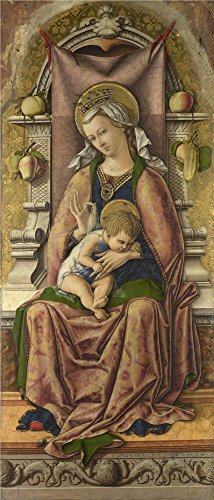 'Carlo Crivelli The Virgin And Child ' Oil Painting, 20 X 47 Inch / 51 X 119 Cm ,printed On High Quality Polyster Canvas ,this Replica Art DecorativePrints On Canvas Is Perfectly Suitalbe For Living Room Gallery Art And Home Decoration And Gifts - Dj Dead Mouse Costume