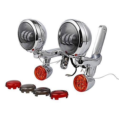 LED Zusatzscheinwerfer Set f/ür Harley Davidson Electra Glide Standard 97-10 cs