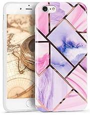 Oihxse Nuevo Flores Case Compatible con iPhone XS MAX/iPhone 10 Plus Funda Marmol Silicona Gel Enchapado TPU Anti-Rasguño Protección Cáscara Lindo Rose Ultra Delgado Cover Caja Bumper (A21)