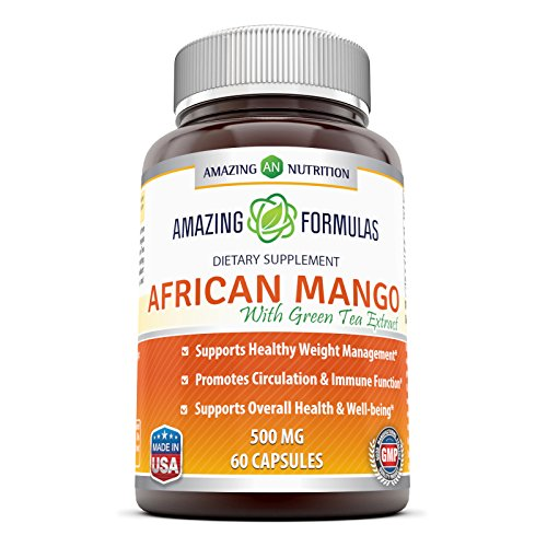 Amazing Formulas - African Mango with Green Tea Extract Dietary Supplement - 500 Milligrams - 120 Capsules - Supports Healthy Weight - Promotes Better Immune Function