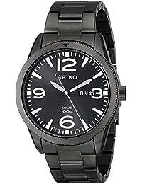 Seiko Men's SNE343 Sport Solar Analog Display Japanese Quartz Black Watch