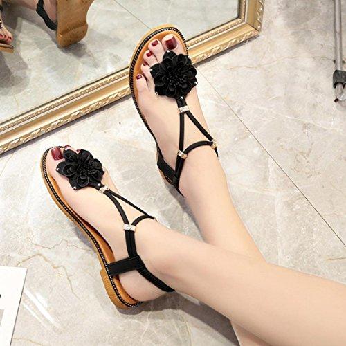 Plage Sandales 2018 Femmes Anti DéRapage Sandales Femme Fleur Angelof Noir éLastique Ete Plates Chaussures Escarpins Ouvert Sandales Z8qd1n5x1