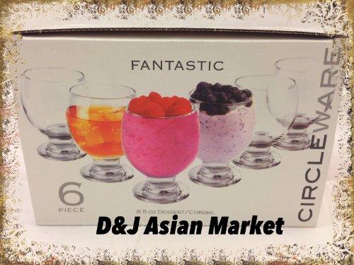 Fantastic 6pic Dessert/Cordail Galss Set byD&J Asian Market