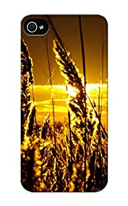 Iphone 5/5s Case, Premium Protective Case With Awesome Look - Grass Silhouette In The Sunset(gift For Christmas)