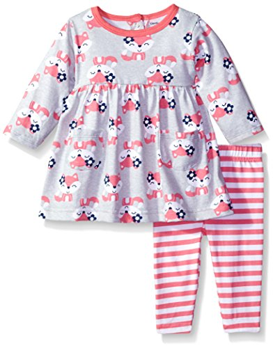 Gerber Baby Toddler Girls' Dress and Legging Set, Fox, 5T