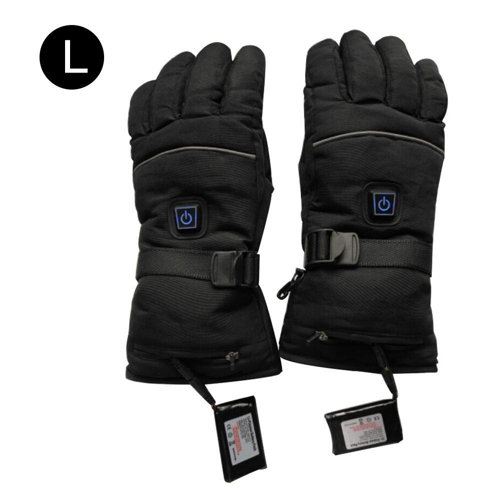 VOVI Electric Heated Gloves with Winter Three-Way Switch Rechargeable Biking Battery Five-Finger Hiking Quick Waterproof Insulated Heating Driving Heated Gloves for Snowboarding