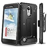LG Aristo Case, Evocel [Explorer Series] Premium Full Body Case with Rugged Belt Clip Holster for LG Aristo/LG K4 (2017) / LG Rebel 2 / LG Fortune/LG Phoenix 3 / LG K8 (2017), Black