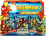Iron Man 2 Super Hero Squad Armor Evolutions Action Figure 3Pack Iron Man Mark I, Iron Man Mark II & Iron Man Mark III
