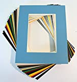 picture matting - Pack of 20 MIXED COLORS 8x10 Picture Mats Matting with White Core Bevel Cut for 5x7 Pictures