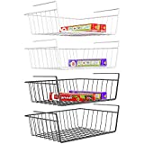 Under Shelf Basket, iSPECLE 4 Pack Wire Rack,...