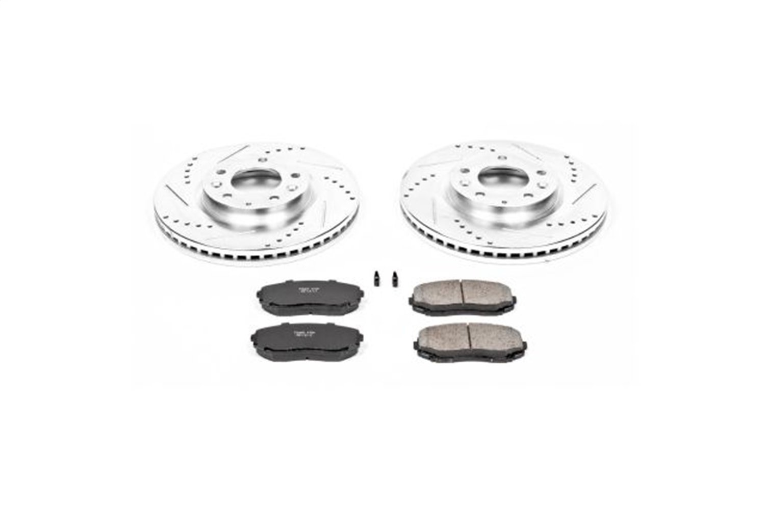 Power Stop K4676 Front Z23 Evolution Brake Kit with Drilled/Slotted Rotors and Ceramic Brake Pads