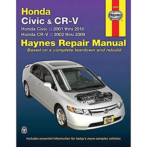 Honda Civic Crv 01 10 Haynes Repair Manual Paperback Amazon Co Uk Haynes Publishing 0383454202696 Books