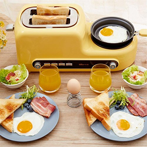 Katoot@ Kitchen Electric 2 Slices Wide Slot Bread Toaster Oven Eggs Frying Breakfast Sandwich Maker Household Cooking Baking Tools Pan