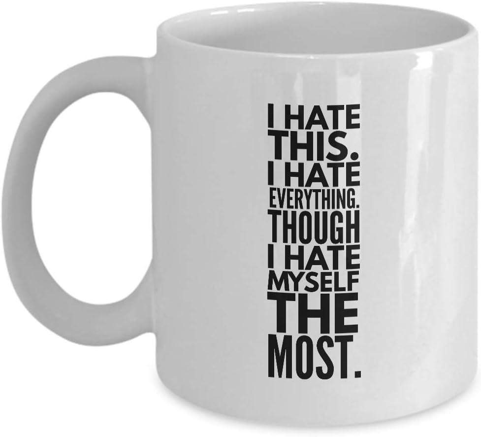 Animation Coffee Mug - I Hate This I Hate Everything - Cartoon ...