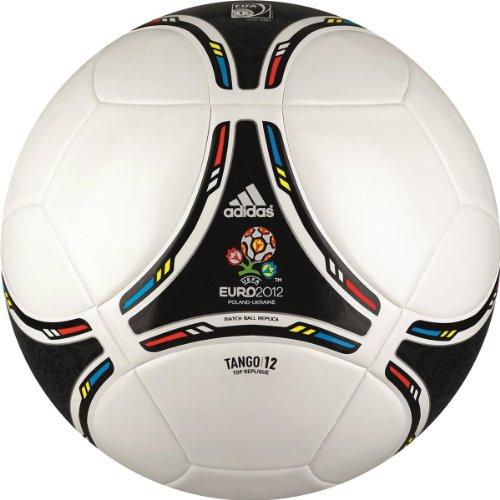 adidas Fußball EURO Top Repl, white/black, 4, X18256