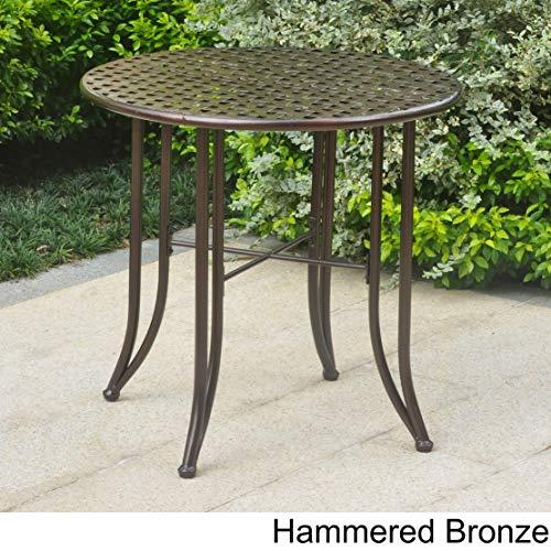 International Caravan Mandalay 30-inch Iron Patio Bistro Table Bronze
