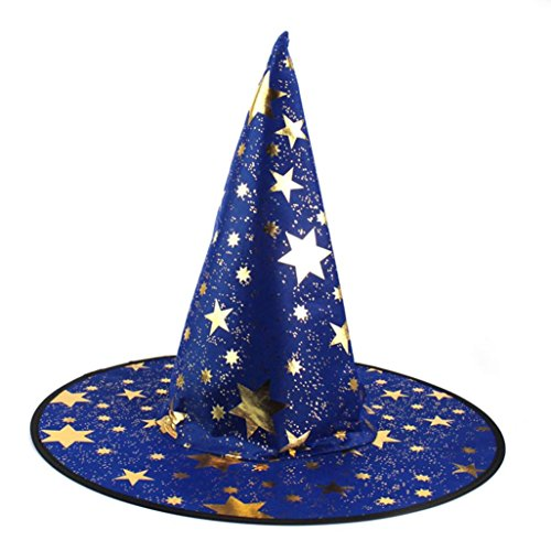 Cheap Halloween Costumes Accessories (Gorgii 1Pcs Adult Womens Black Witch Hat For Halloween Costume Accessory (Blue))