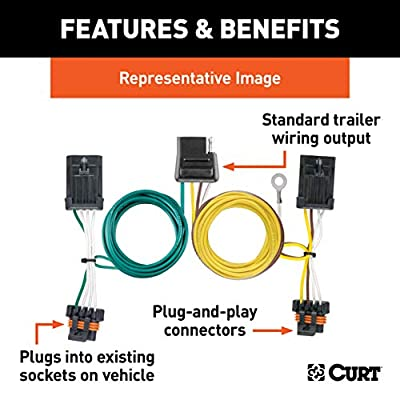 CURT 55337 Vehicle-Side Custom 4-Pin Trailer Wiring Harness for Select Chevy Lumina, Oldsmobile Silhouette, Pontiac Trans Sport: Automotive