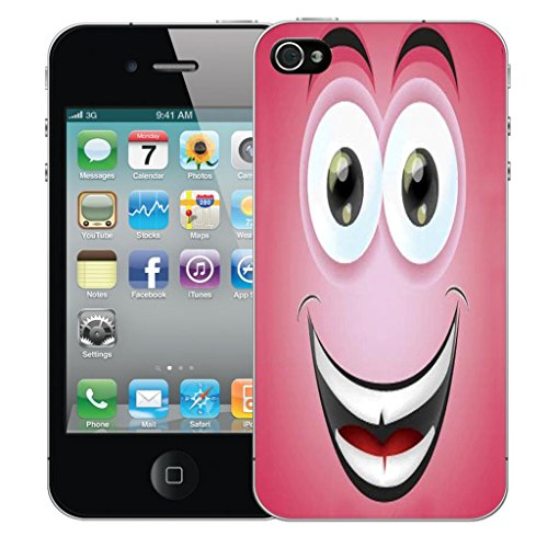 Mobile Case Mate iPhone 4 4s clip on Dur Coque couverture case cover Pare-chocs - grining caricature Motif