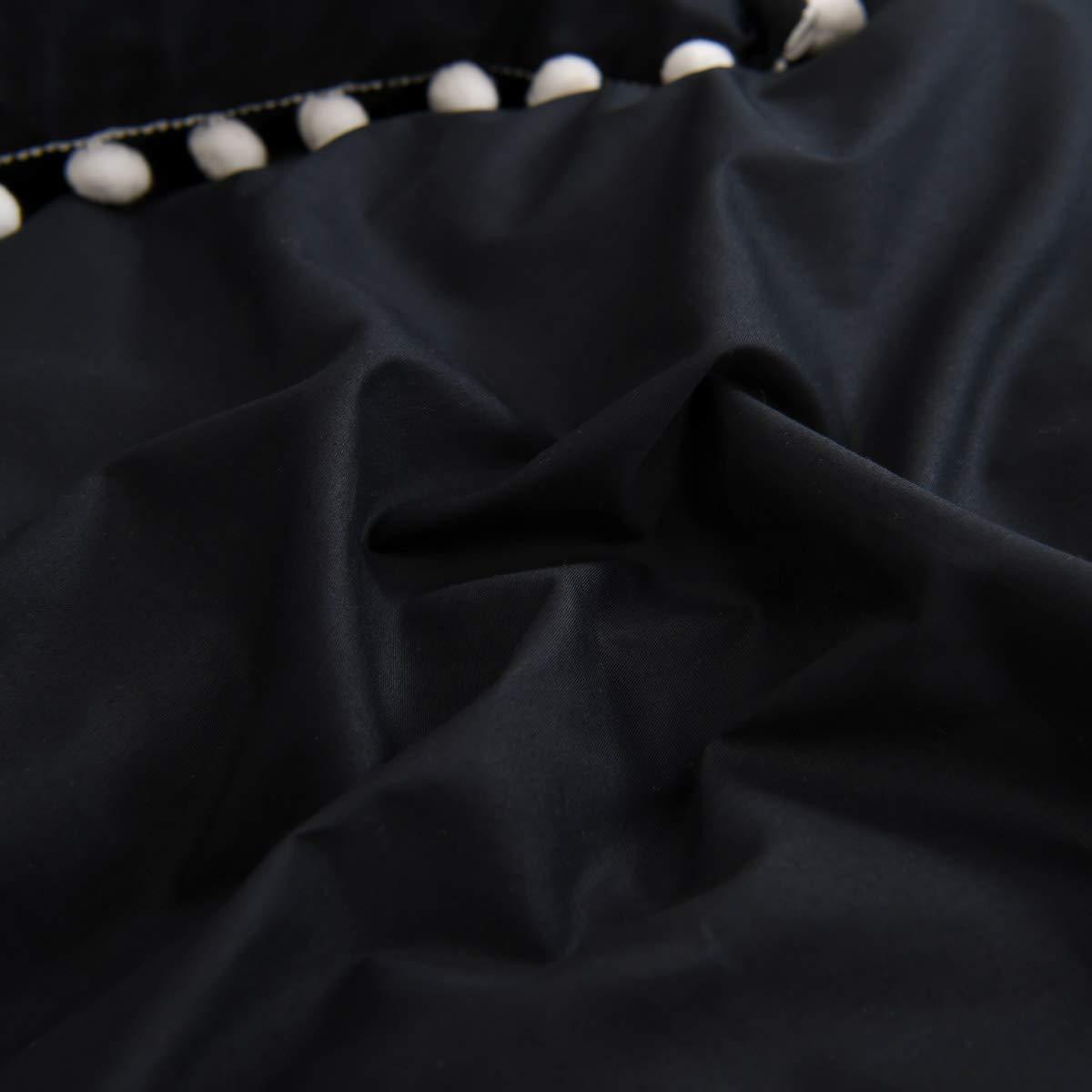 Softta Girls Bedding Pink Duvet Cover Full 3 Pcs Ruffle Pom-Fringe Pompoms Bohemian Bedding 100/% Washed Cotton Boho Baby Teen Girls Bed Cover