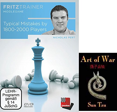 "Price comparison product image Typical Mistakes by 1600-1900 Players - Nicholas Pert Chess Traing DVD and ChessCentral's ""Art of War"" E-Book Bundle: 2 Items"